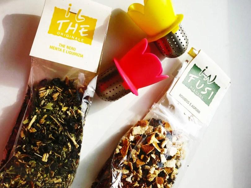 Tè e infuso in foglie tesori dalla natura