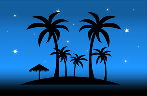 clip art illustration of tropical