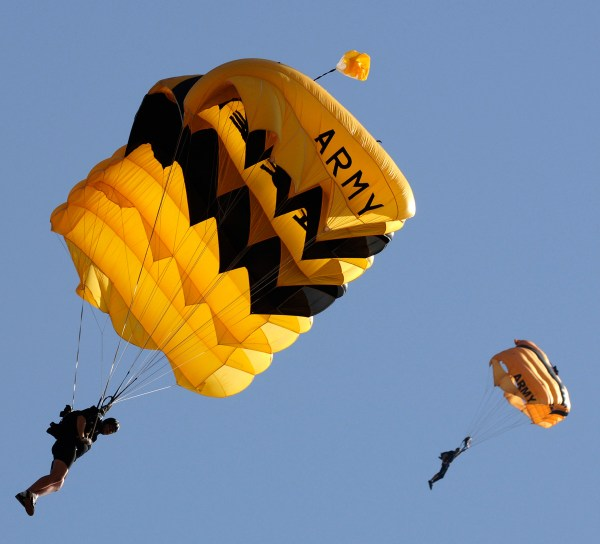 Free Public Domain Army Golden Knights Parachute