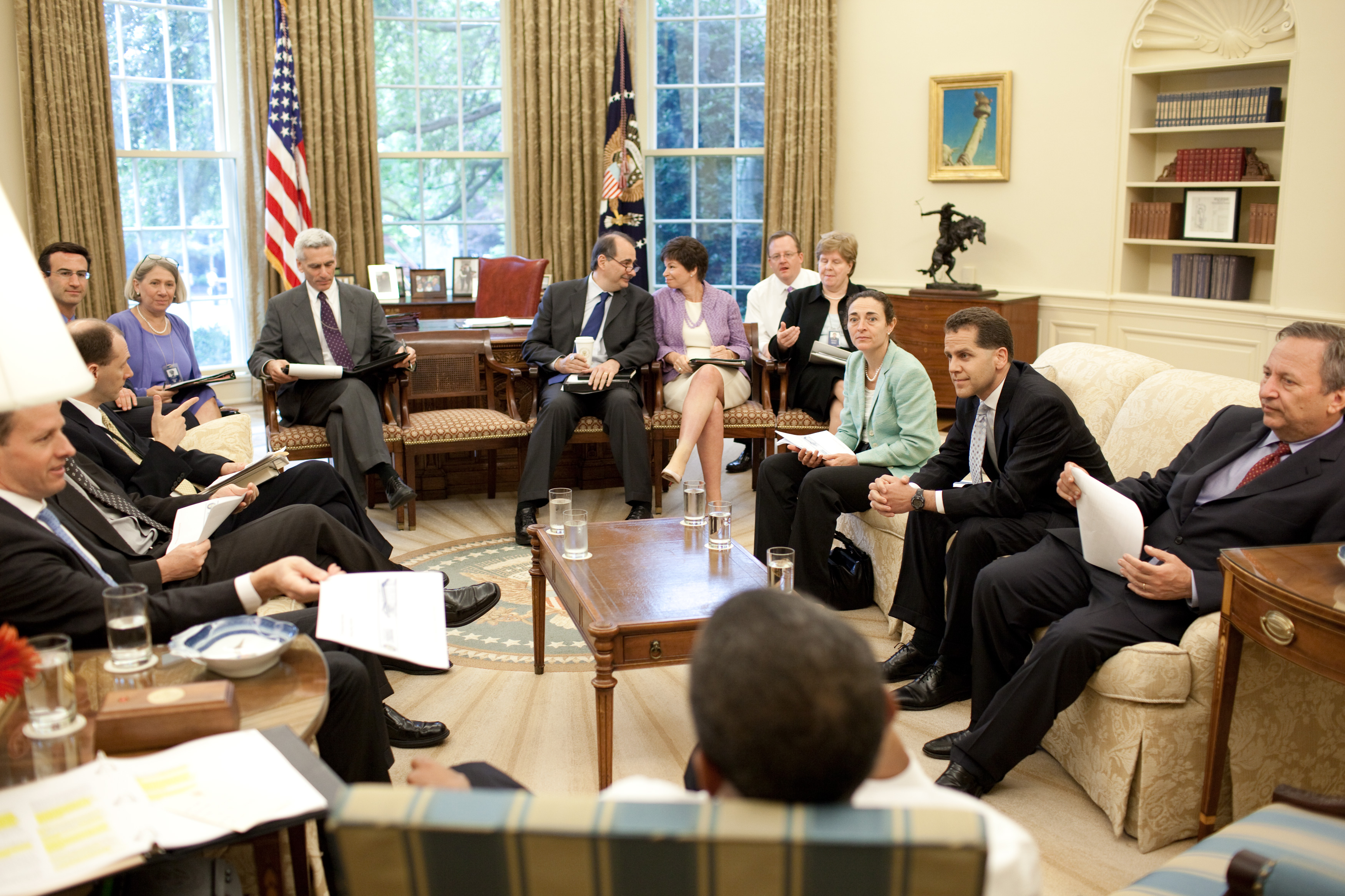 Free Public Domain Image Meeting In The Oval Office Of The White