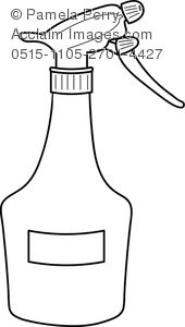 Clip Art Image of a Plastic Spray Bottle for Cleaning