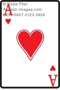 Ace Of Hearts Playing Card Clipart Amp Stock Photography