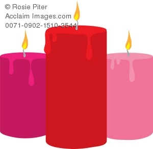romantic candle clipart & stock