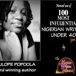 "Tolulope Popoola named one of the ""100 Most Influential Nigerian Writers Under 40"""