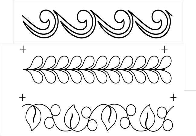 Full Line Stencil Border Assortment X3