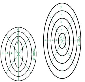 Quilter's Rule Nested Ovals