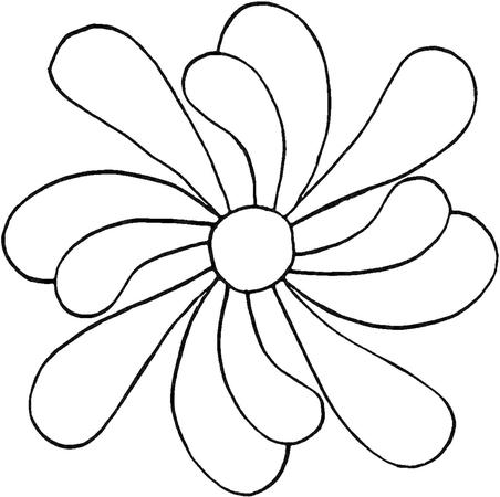 Full Line Stencil Feather Flower