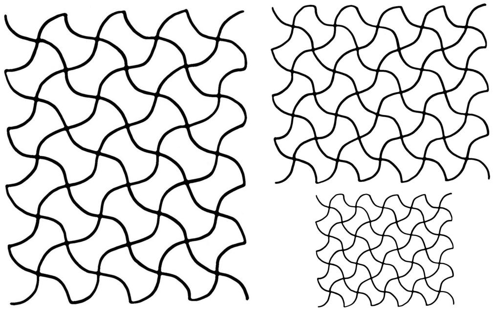 Full Line Wavy Grid Stencil