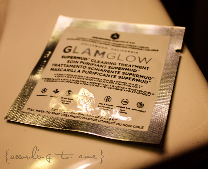 accordingtoame glamglow supermud packet