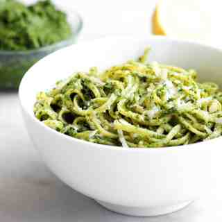 Raw Kale Pesto Linguine