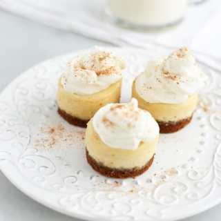 Mini Eggnog Cheesecakes
