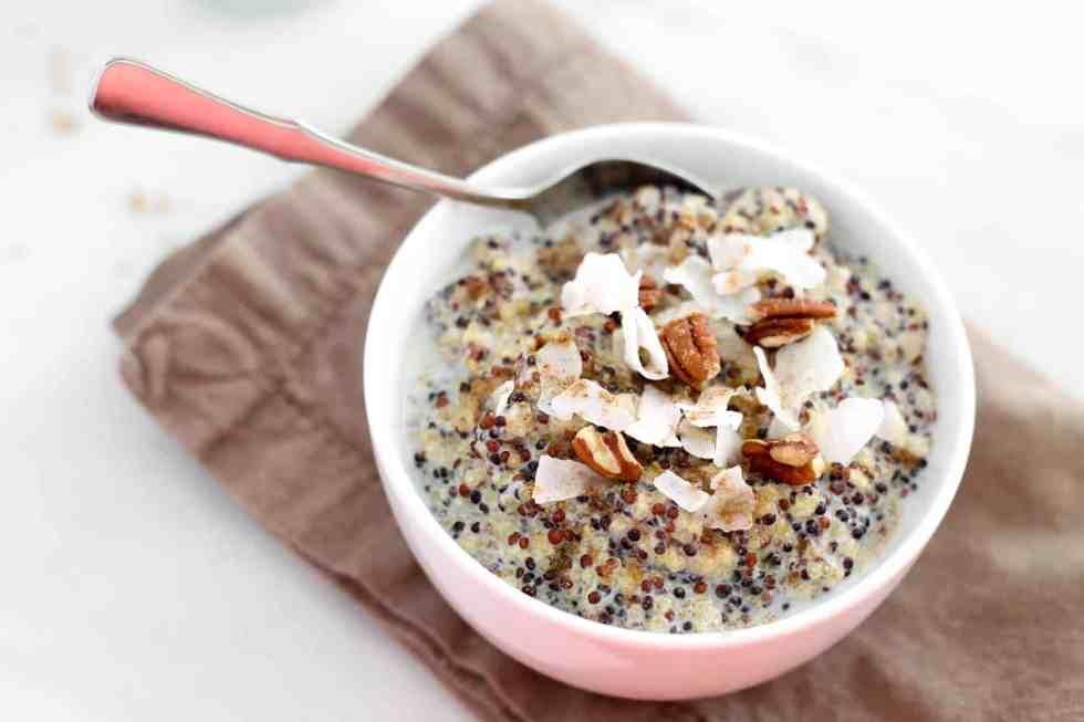 Spiced Chai Morning Quinoa | accordingtoelle.com