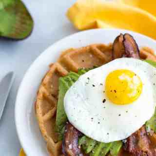 Simple Savory Breakfast Waffles