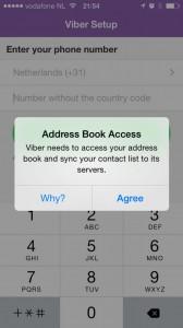 Viber address book