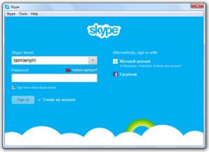 Login to Skype