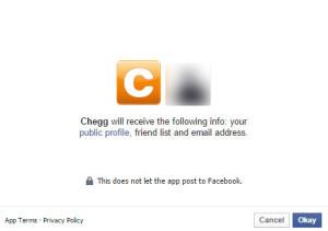 Chegg Facebook Login
