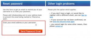 Sumdog recover password