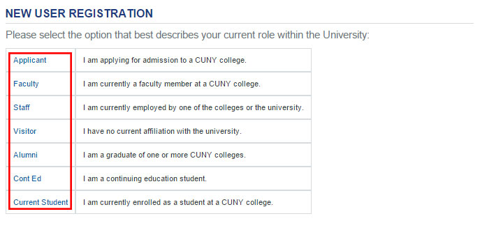 Cuny Register
