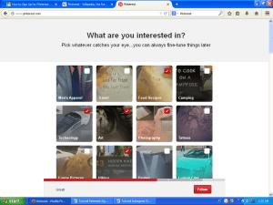 Pinterest first time