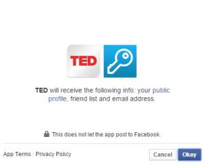 TED Facebook Login