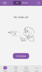 Viber main screen