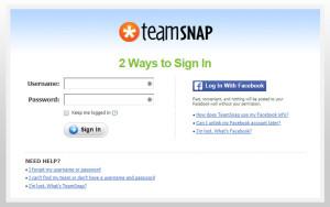 TeamSnap Sign in