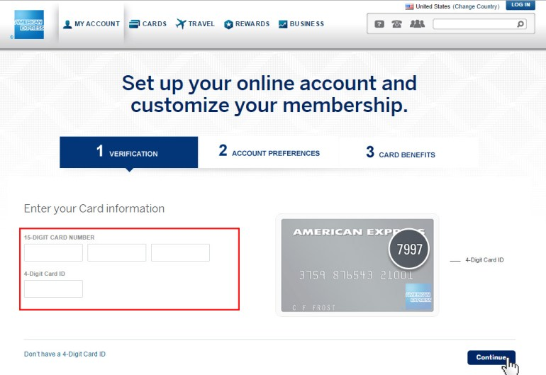 American Express Sign up