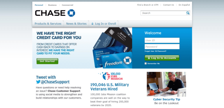 Chase Bank Website