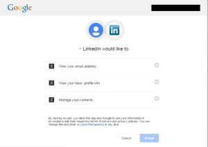 LinkedIn registration