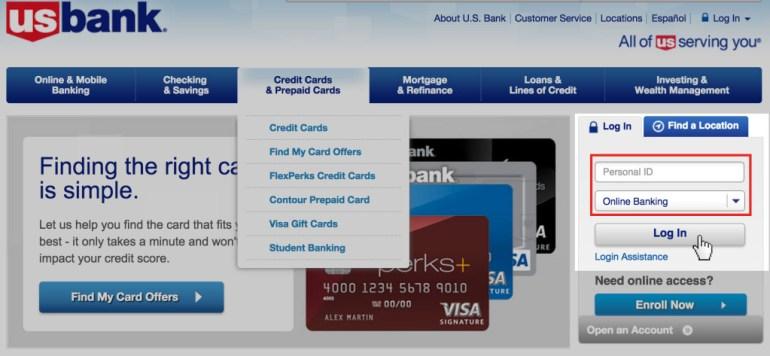 Login US Bank