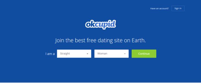 OkCupide Homepage