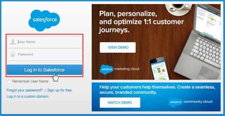 Salesforce Sign in