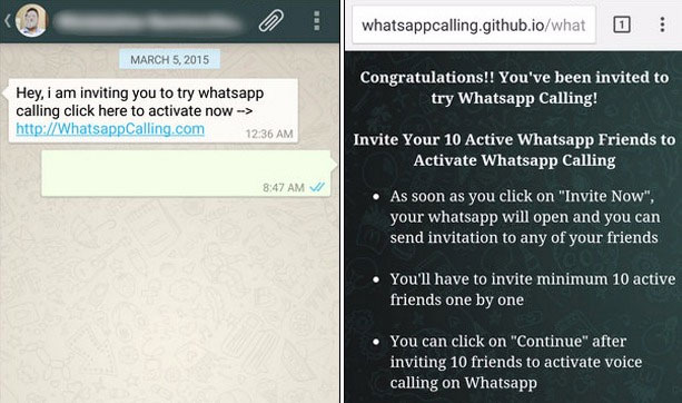 Whatsapp scamming