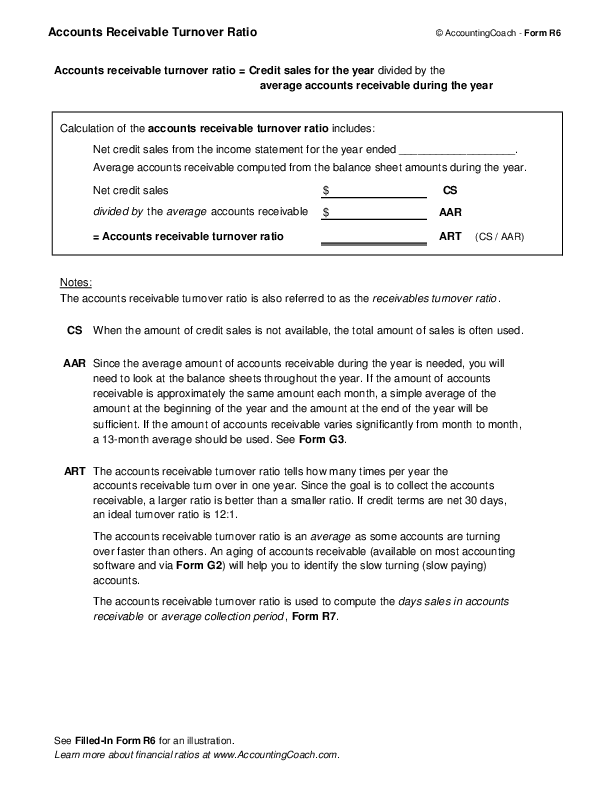 Accounts Receivable Turnover  Business Forms  AccountingCoach