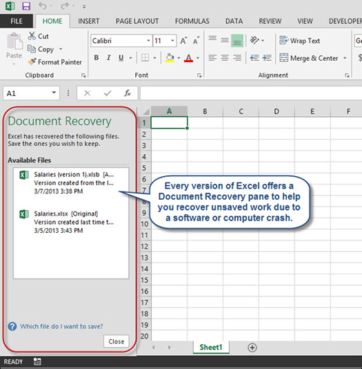 Recovering Unsaved Excel Workbooks | AccountingWEB