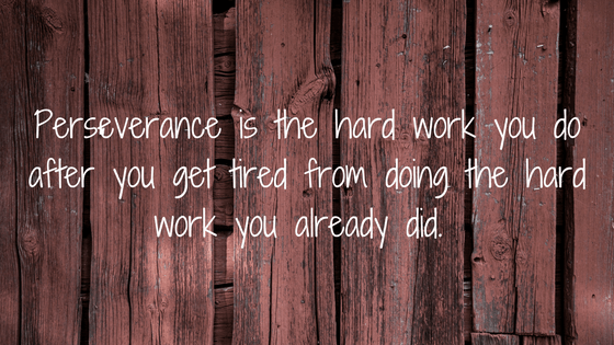 Perseverance Is The Hard Work You Do After You Get Tired From Doing