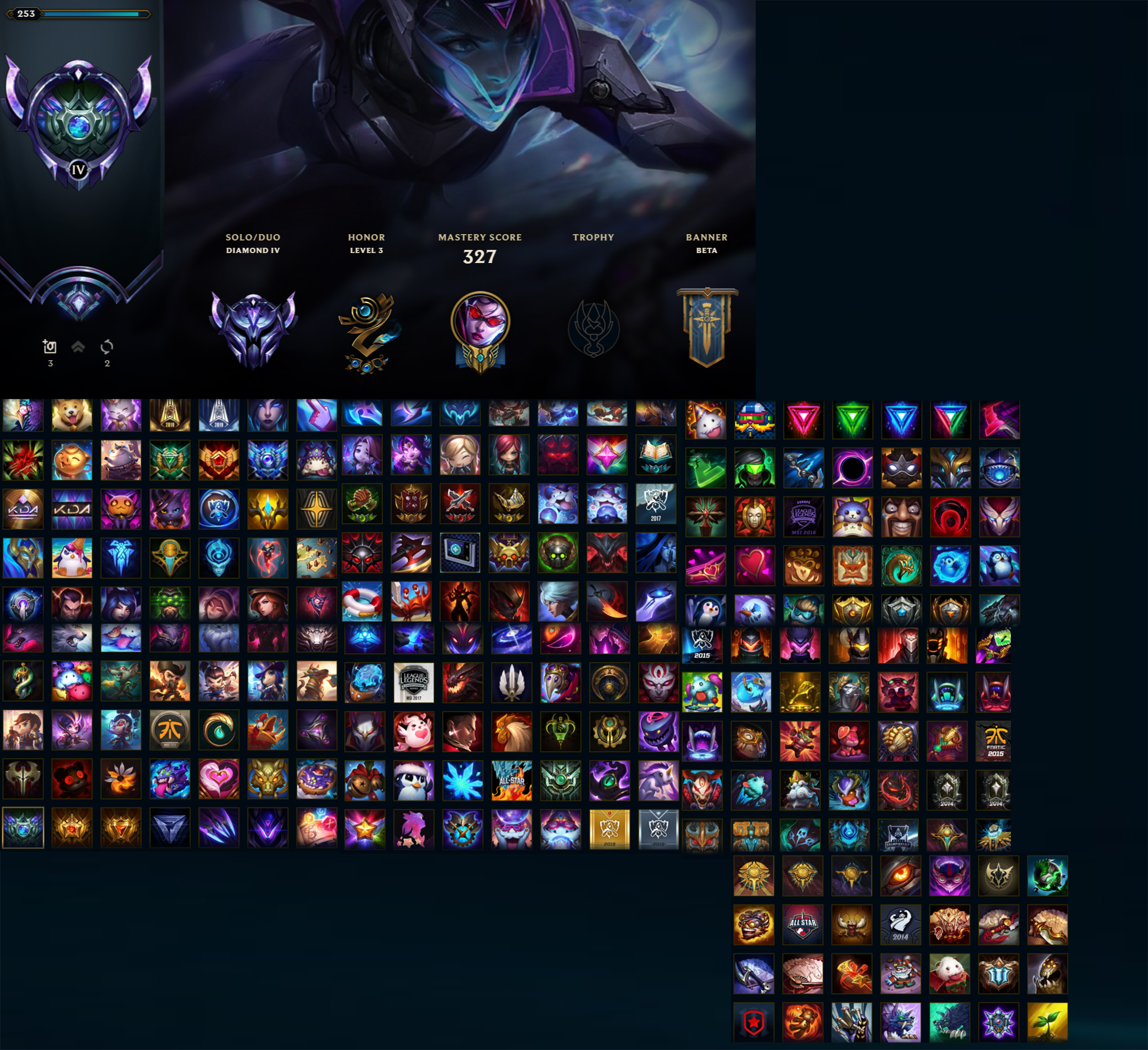 League of Legends Account for Sale: Diamond IV | 143 Champions | 100 Skins | S8. S7 Diamond | Victorious Oriana