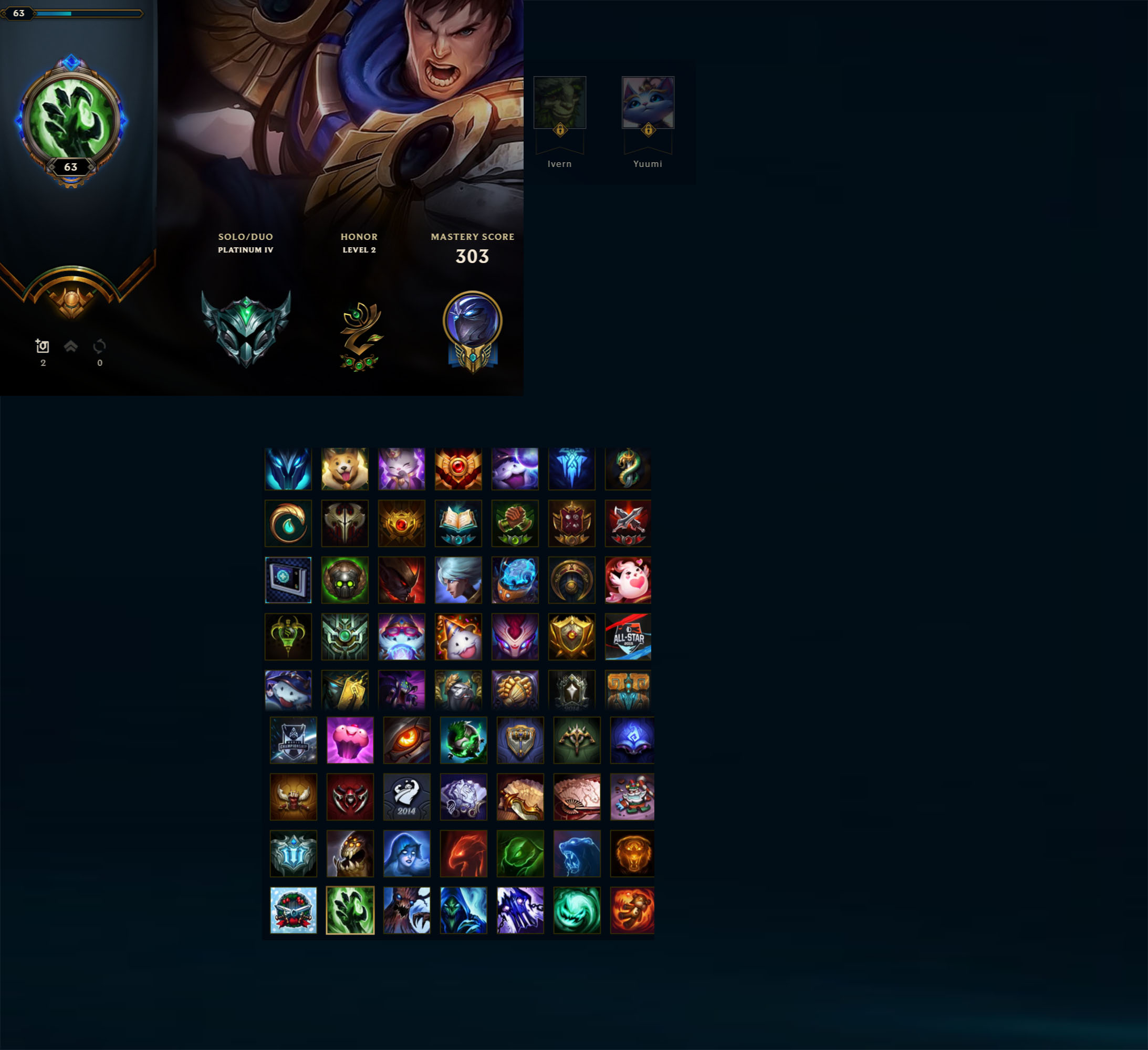League of Legends Account for Sale: Platinum IV | 143 Champions | 74 Skins | S8 S7 S5 Gold | S6 Platinum | Victorious Oriana