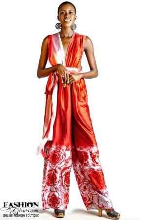 Mikoko Silk Print Multi-Way Convertible Jumpsuit