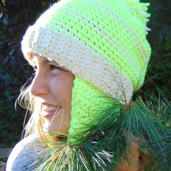 Key Lime, tuque/hat, crochet