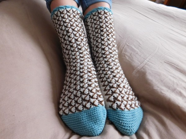 Mint Chocolate Chip Crochet Socks ACCROchet