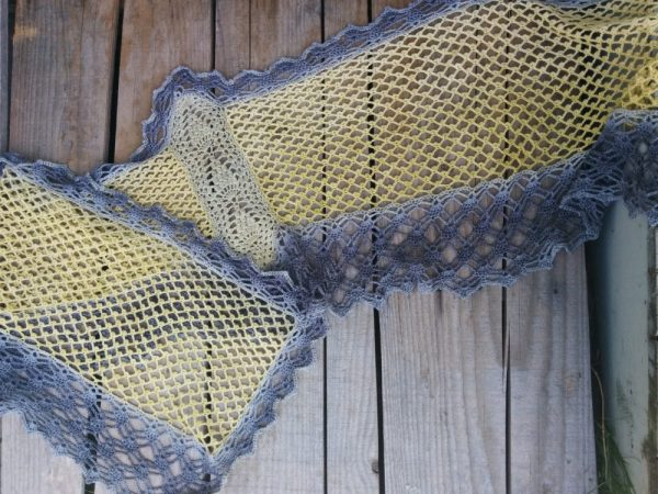 Libellule étole/stole, crochet