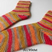 Dobby bas/socks, crochet