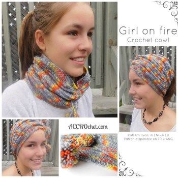 Girl on fire col/cowl crochet