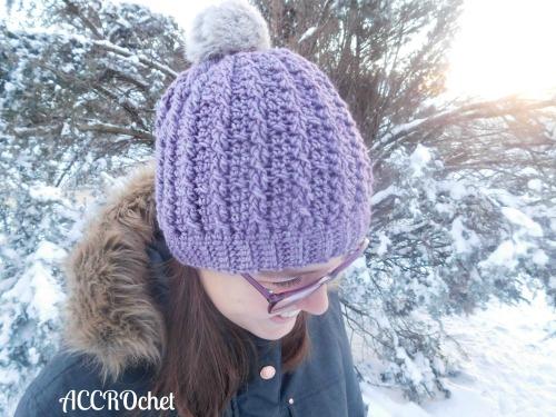 Trinity, tuque câblée / cabled hat. crochet