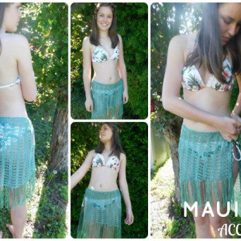 Maui swimsuit cover /cache maillot, crochet