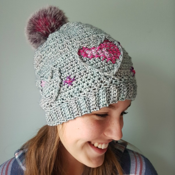 Three of Hearts hat by ACCROchet