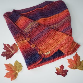 Boxed in pullover with fall leaves