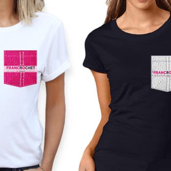 t-shirt collectif blanc ou noir