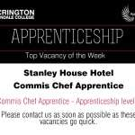 Apprentice Vacancy of Week Stanley house comes chef